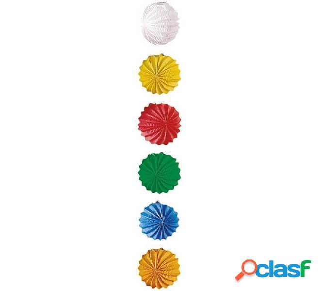 Lanterna sferica liscia in vari colori 20 cm