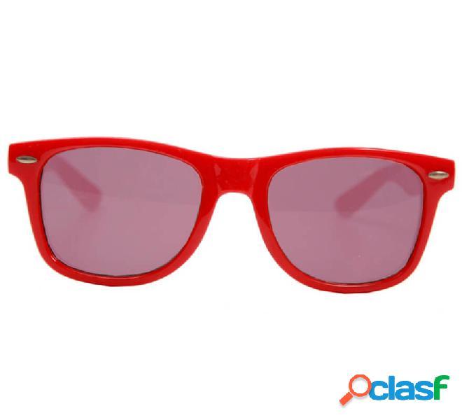 Occhiali stile anni 80 con lenti nere, 2 colori assortiti