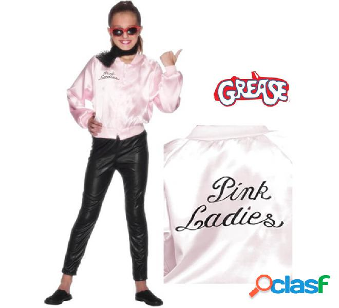 Giacca pink ladies de grease con logo per bambine