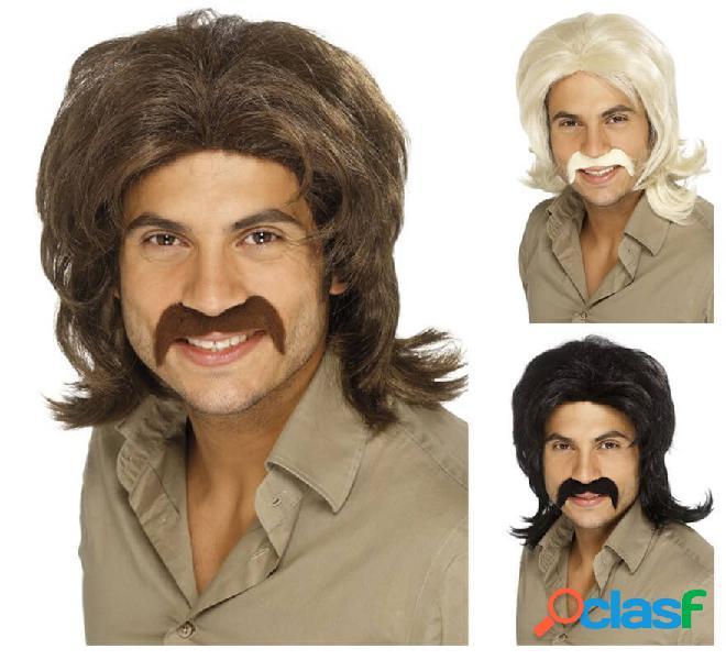 Parrucca retrò anni '70 per uomo in vari colori