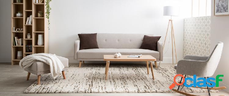 Piantana design con treppiede in legno naturale tripod