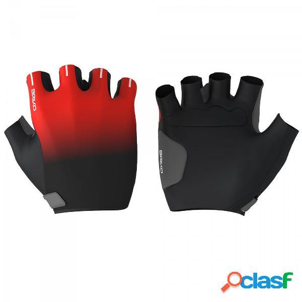 Guanti briko leggero s (colore: nero-rosso, taglia: s)