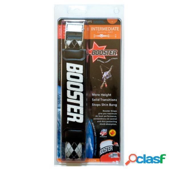 Booster ski strap intermediate soft (colore: nero, taglia: unica)