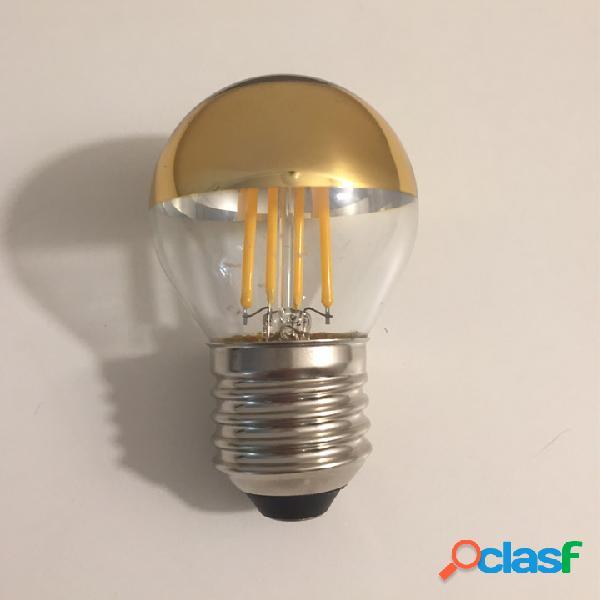 Lampadina a led tipo minisfera con cupola colorata - e27 - 4w - 300 lumen oro