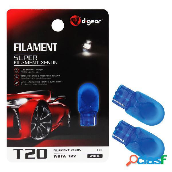 Lampadina t20 a filamento super - t20 2 contatti