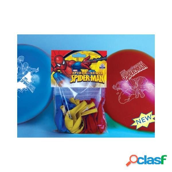 8 palloncini colorati spiderman