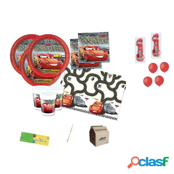 Kit n. 6 accessori per la tavola cars 3