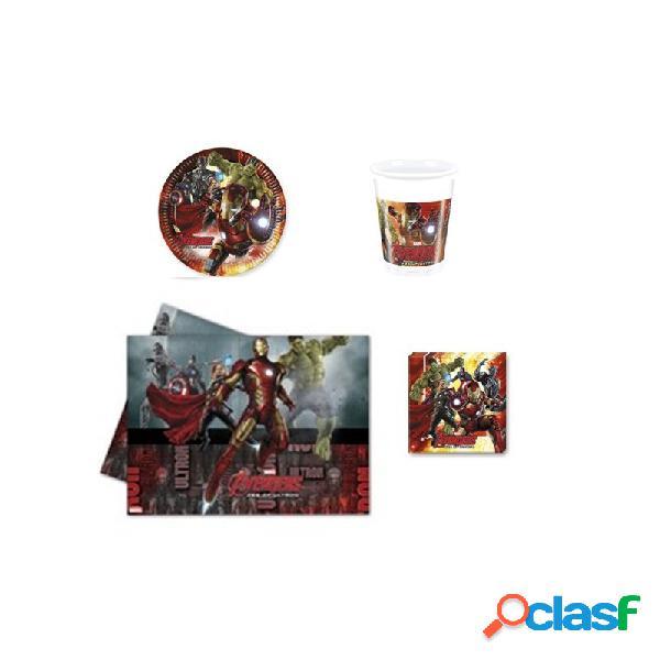 Kit n3 121 pz addobbi per festa avengers