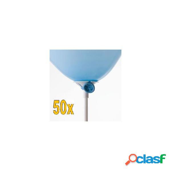 50 aste con valvole di sicurezza per palloncini