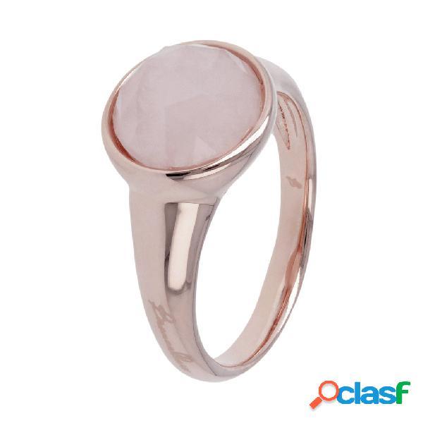 Anello pietre dure colorate   rose gold / 10 / quarzo rosa