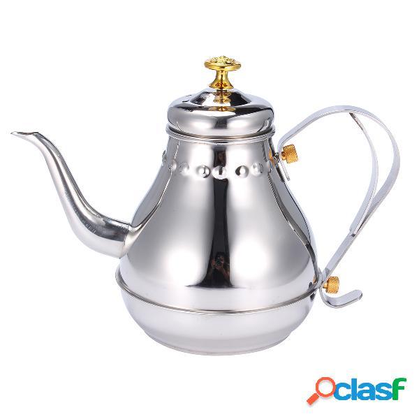 Argento in acciaio inox, capacità di 1.2l capacità in acciaio inox bollitore di tè teatri da filtro da tè