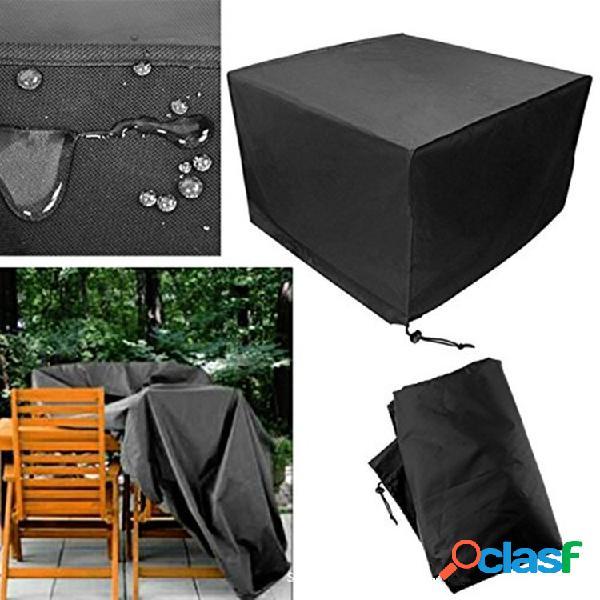 Copertura protettiva per mobili per esterni copertura rettangolare antipolvere antipioggia rettangolare nera extra large