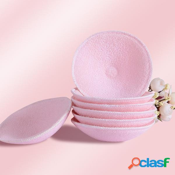 2 pezzi pads per l'allattamento al seno riutilizzabili riutilizzabili lavabili in cotone
