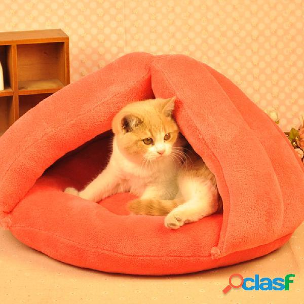 Cuccia per gatti cuccia per gatti cuscino per materassino per animali cave igloo soft kitten nest home