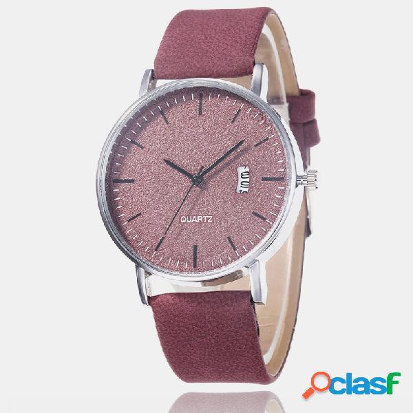 Orologio sportivo per il tempo libero orologio da donna quadrante satinato banda orologio in lega con cronografo e cronografo al quarzo