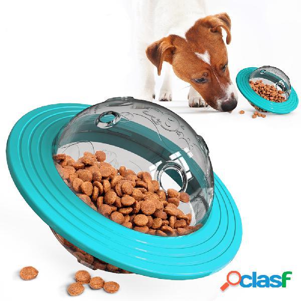 Contenitore interattivo della perdita del cibo per animali domestici della ciotola del cibo per gatti della ciotola del cibo per gatti di forma del ufo per lo strumento di alimentazione del c