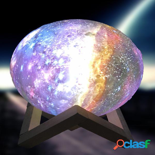 15cm 3d verniciato remoto controllolo 7 colori star moon lampada lunar light led notte di ricarica lampada tavolo lampada regalo