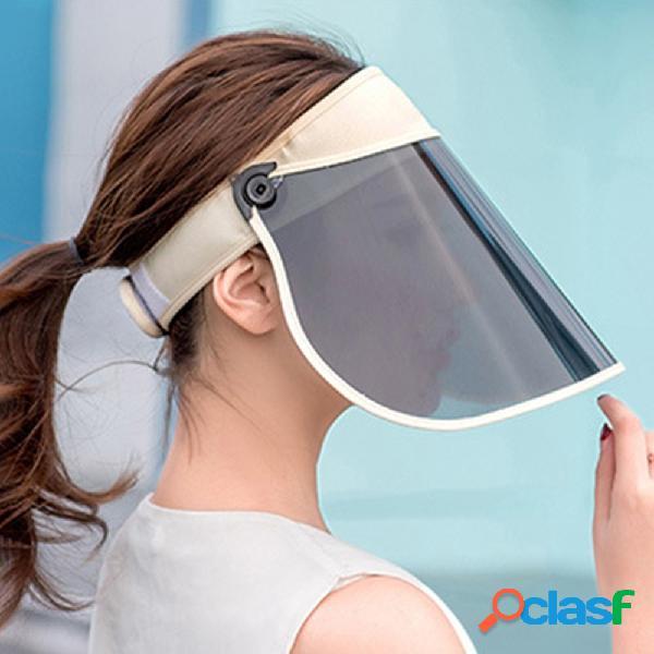 Cappello portatile impermeabile cappuccio antipolvere copertura anti-uv a tesa larga cappello frontale cappello vuoto