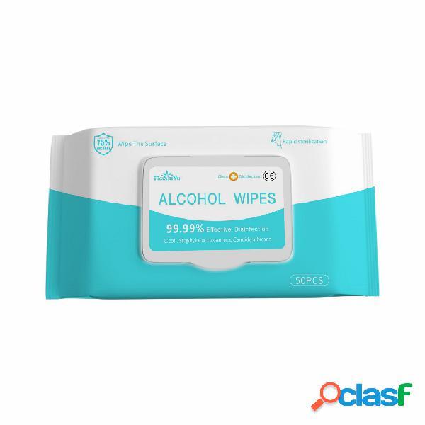 Salviette alcoliche sterilizzanti al 99,9% per uso domestico