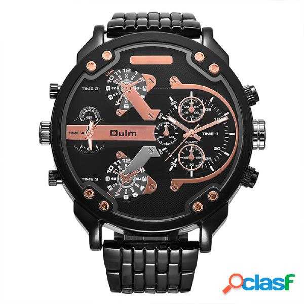 Orologi da uomo sportivi meccanico orologi di forma rotonda orologio in acciaio inossidabile di marca 4 colori per uomo