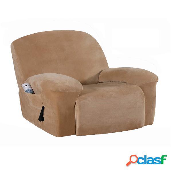 velvet soft fodera per sedia reclinabile elasticizzata fodera per copertura totale con tasche copridivano impermeabile antipolvere