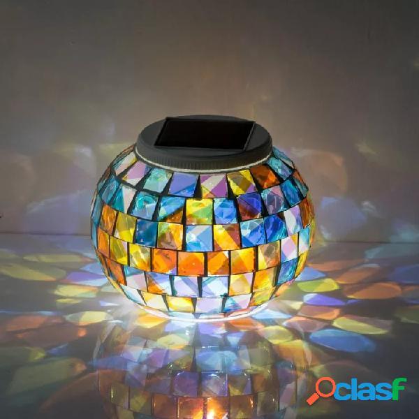 Garden solare power glass ball colorful luce a led decorazione impermeabile per esterni lampada