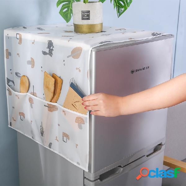 Copertura del frigorifero domestico copertura antipolvere in tessuto conservazione del frigorifero borsa copertura impermeabile trasparente del frigorifero