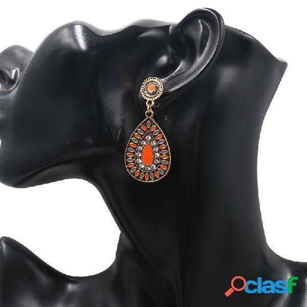 Orecchini pendenti con ciondoli geometrici ovali orecchini pendenti geometrici colorati etnici per le donne
