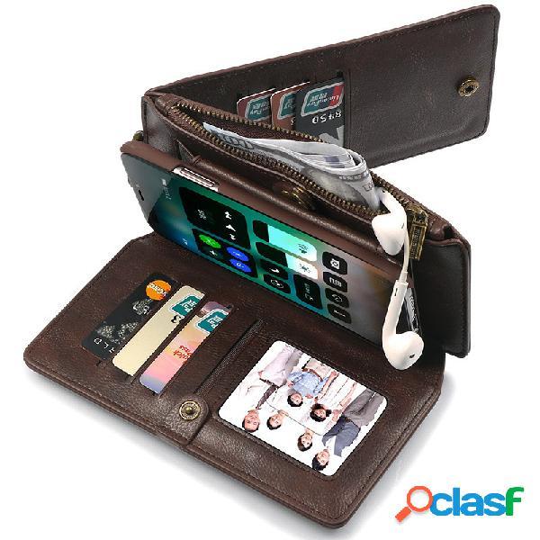 Custodia protettiva multifunzionale per telefono cellulare custodia protettiva multifunzione in pelle pu con custodia in pelle borsa