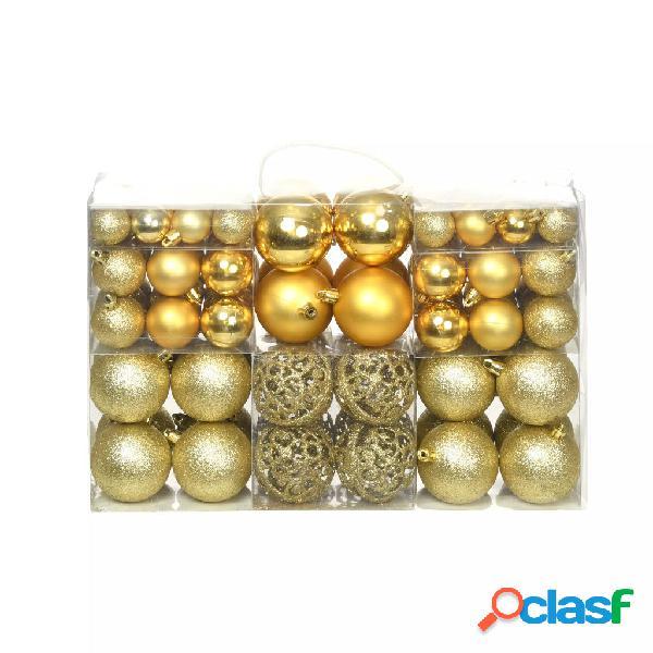 Vidaxl set palline di natale 100 pz 6 cm oro