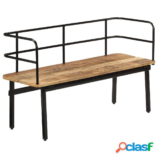 Vidaxl panca 120x40x70 cm in legno massello di mango