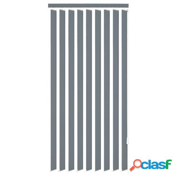 Vidaxl tende verticali a fascia in stoffa grigia 150x250 cm