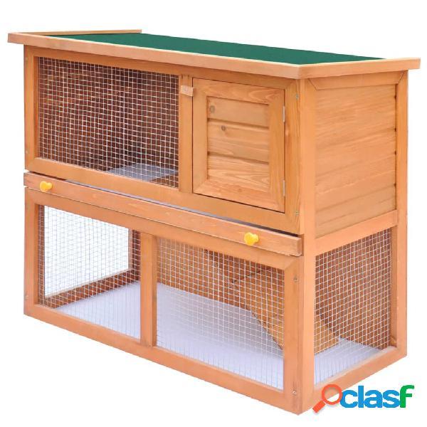 Vidaxl conigliera all'aperto gabbia piccoli animali 1 porta legno