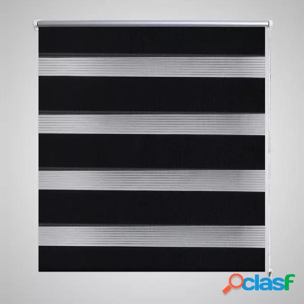 Vidaxl tenda a rullo oscurante zebra 40x100cm nero