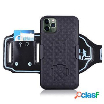 Fascia da braccio sportiva staccabile 2 in 1 per iphone 11 pro - nera