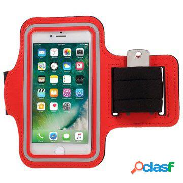 Fascia da braccio sport per iphone 7/8/se (2020) - rossa