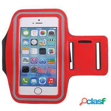 Fascia da braccio sportiva - iphone 6 plus / 6s plus / 7 plus / 8 plus - rossa