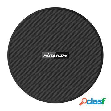 Caricabatterie wireless qi nillkin powerflash mc035 - 15w - fibra di carbonio