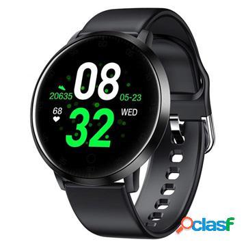 Smartwatch impermeabile con frequenza cardiaca k12 - nero