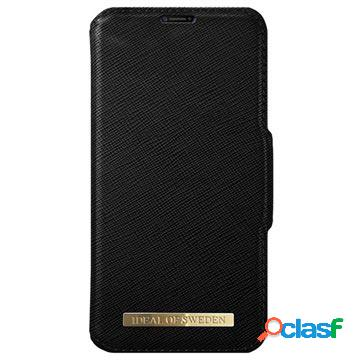 Custodia a portafoglio ideal of sweden fashion per iphone x / iphone xs - nera