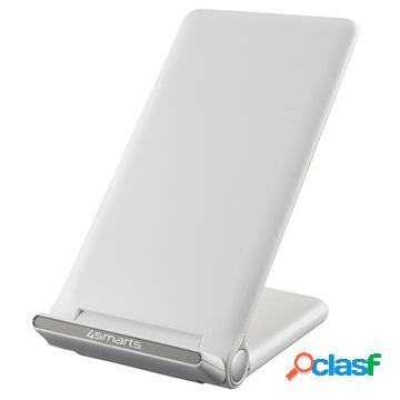 Caricabatterie wireless qi rapido 4smarts voltbeam fold - 15w - bianco