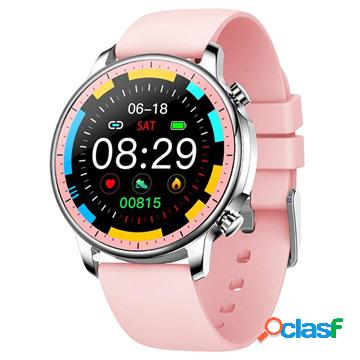 Smartwatch impermeabile con frequenza cardiaca v23 - rosa