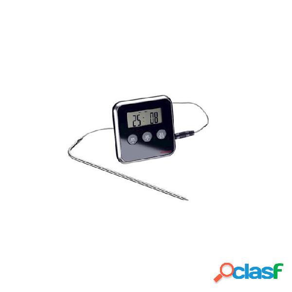 Termometro digitale con sonda fino a 250°c - plastica riutilizzabile - nero