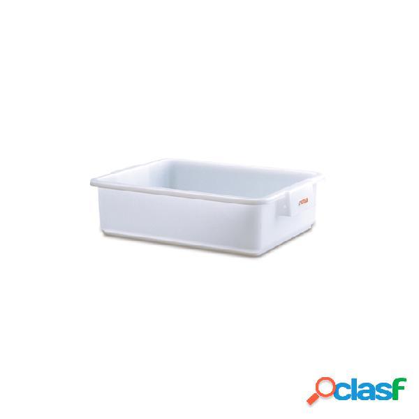 Vaschetta rettangolare araven in polietilene bianco lt 25 - plastica riutilizzabile