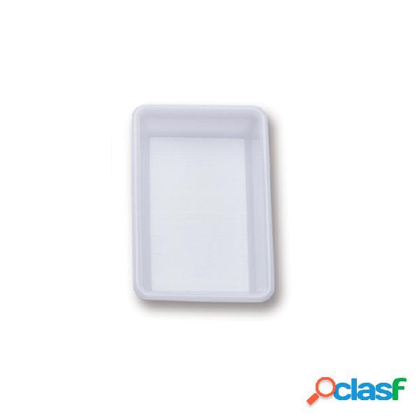 Vaschetta rettangolare araven in polietilene bianco lt 2 - plastica riutilizzabile