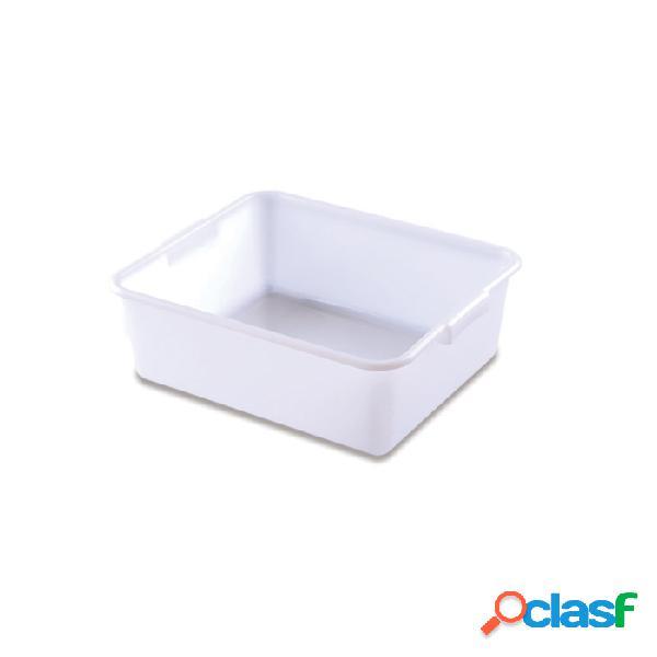 Vaschetta rettangolare araven in polietilene bianco lt 20 - plastica riutilizzabile