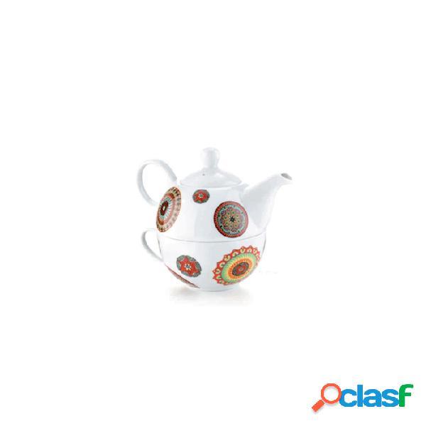 Teiera Tea For One Kerala N.1 In Porcellana Decorata - Fantasia