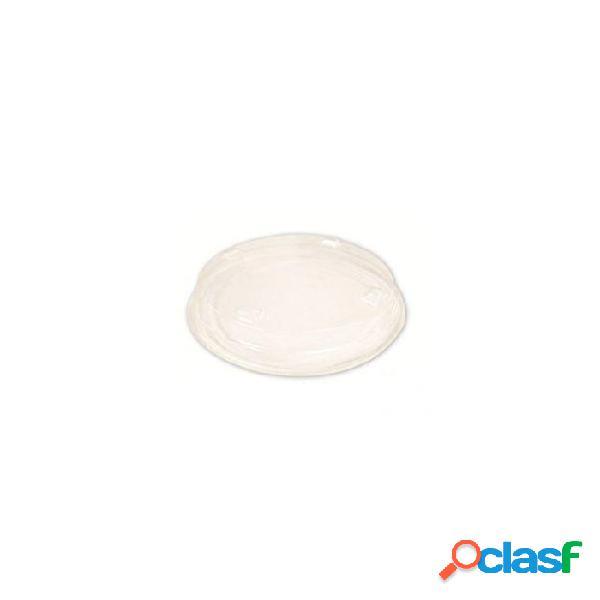 Coperchio monouso per coppette gelato in pla trasparente cm 11,5 - naturale
