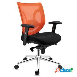 Sedia da ufficio lambo, supporto lombare, in color arancione