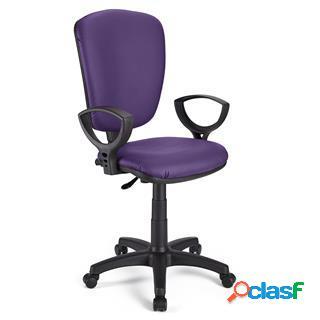 Sedia da ufficio calipso pelle in viola
